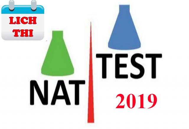 Lịch thi Nat test 2019