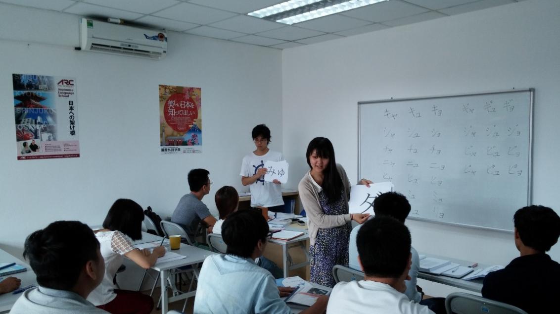 Kết quả hình ảnh cho lớp dạy tiếng nhật