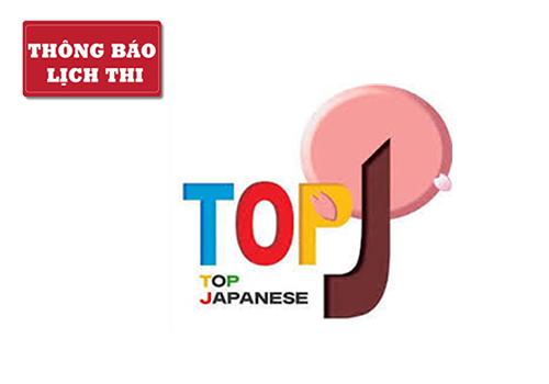 Lịch thi TOP J 2019